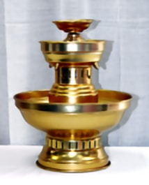 3 gal gold finish fountain