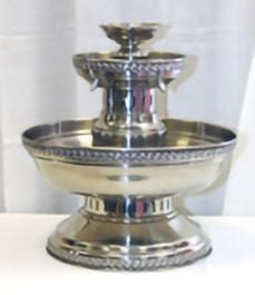 5 gal silver finish fountain