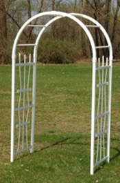 Arch-White Trellis