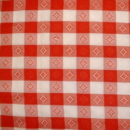 Gingham Red 001